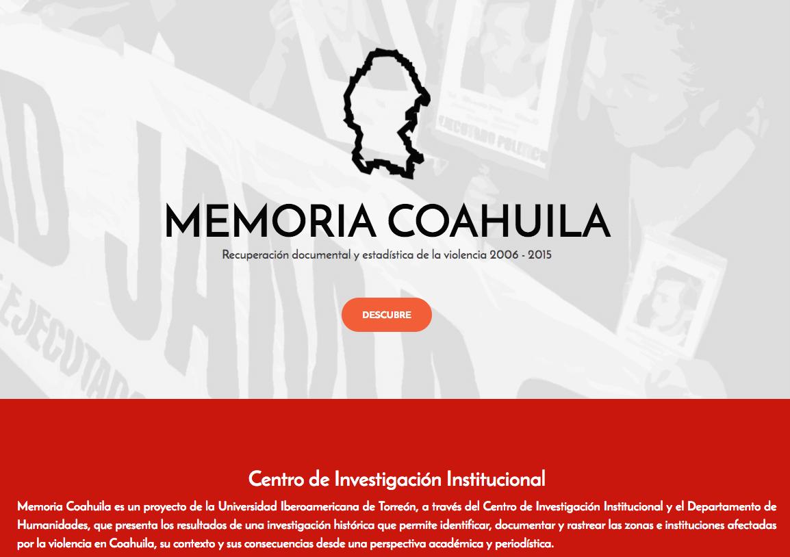 PRESENTES EN MEMORIA COAHUILA: ARCHIVO HISTÓRICO DE LA VIOLENCIA – CCIC